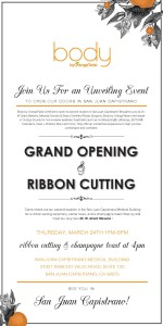 Body by OrangeTwist San Juan Capistrano Grand Opening Invitation