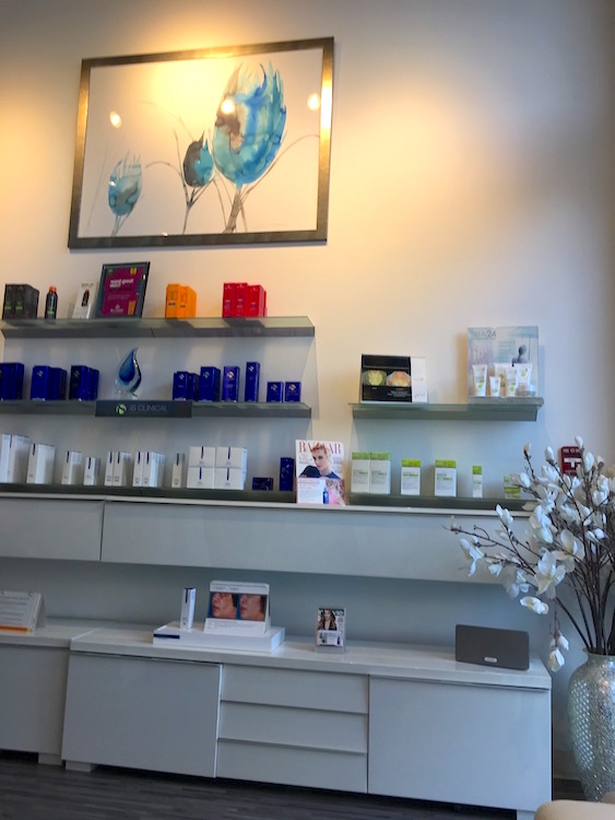 OrangeTwist South Bay | Reception and Skin Care Product Bar